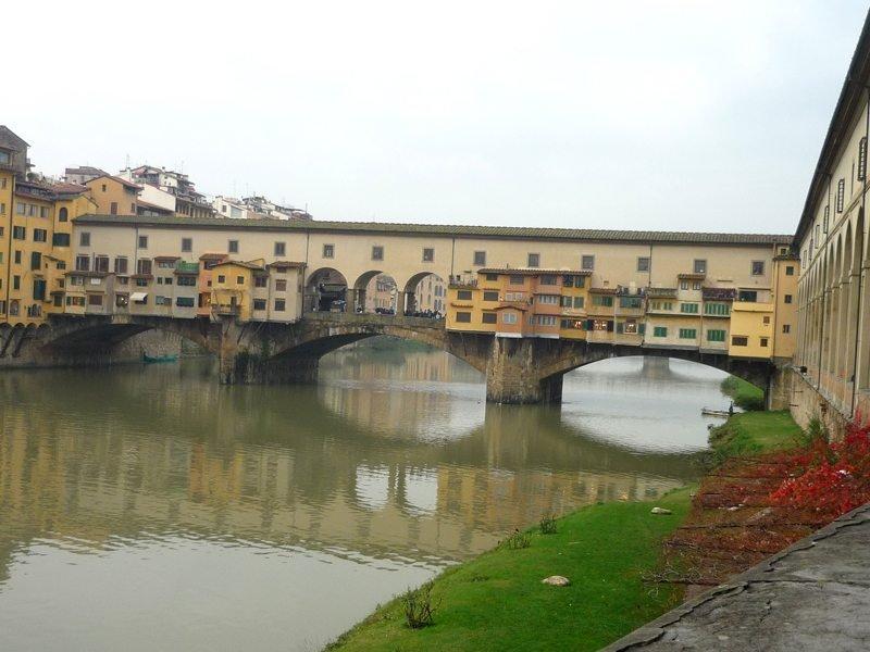 A Ponte Vecchio, a mais antiga de Florença